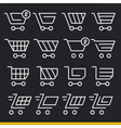 lines icons pack collection set trend vector image