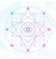 Sacred geometry sign Linear Modern Art vector image