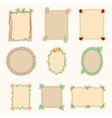 Hand Drawn Frames Set 4 vector image