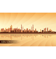 Abu Dhabi city skyline silhouette background vector image vector image