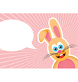 bunny background vector image vector image