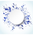 Watercolor painted abstract background vector image vector image