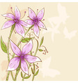 floral flowers background vector image