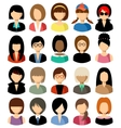 Set of flat icons set with women vector image vector image