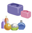 a set of perfumery and cosmetic bags vector image