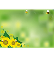 Abstract background sunflowers vector image