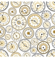 Black and gold watches seamless pattern vector image
