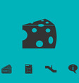 cheese icon flat vector image