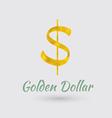 Golden Dollar Symbol vector image
