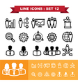 Line icons set 12 vector image
