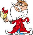 little boy santa cartoon vector image