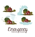 natural disaster design vector image