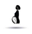 Pregnant woman with baby icon vector image