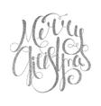 Silver handwritten inscription Merry Christmas vector image