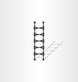 step ladder with bones vector image