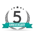 Template Logo 5 Years Anniversary vector image