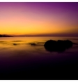 Tropical sunset on the beach vector image