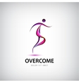 abstract overcome logo Man running moving vector image