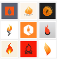 Flame - Set of posters and design elements vector image vector image