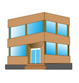 small gray building vector image