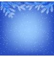 frozen tree branches vector image vector image
