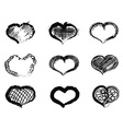 abstract heart icons vector image