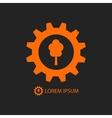 Orange wood industry logo vector image