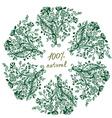 Eco label - floral grafic design vector image