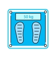 Electronic Bathroom Scale icon vector image