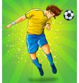 Soccer Player Head Shooting a Ball vector image vector image