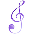 A musical symbol vector image