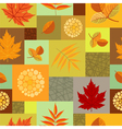 Autumn leaves and abstract berries seamless vector image