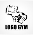 bodybuilder icon or symbol vector image