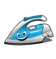 Cheerful cartoon electric iron vector image