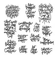 coffee phrases hand drawn lettering set vector image