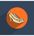Female shoes flat doodle icon vector image