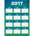 New Year Calendar 2017 Sunday First vector image