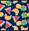 seamless pattern with fashion patches vector image