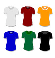 Set women t-shirt vector image