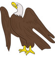 sitting eagle isolated on white background vector image