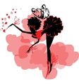 Fairy Silhouette among clouds vector image vector image