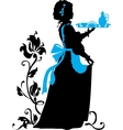 Housemaid silhouette vector image vector image