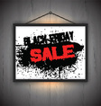 black friday sale notice background 0710 vector image