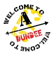 Dundee stamp rubber grunge vector image