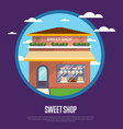 sweet shop banner in flat design vector image