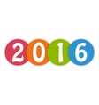 2016 in colorful circles vector image