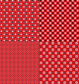 red bandana patterns vector image