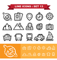 Line icons set 13 vector image