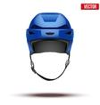 Classic blue Hockey Helmet isolated on Background vector image