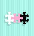 Wedding invitation with puzzle pieces vector image